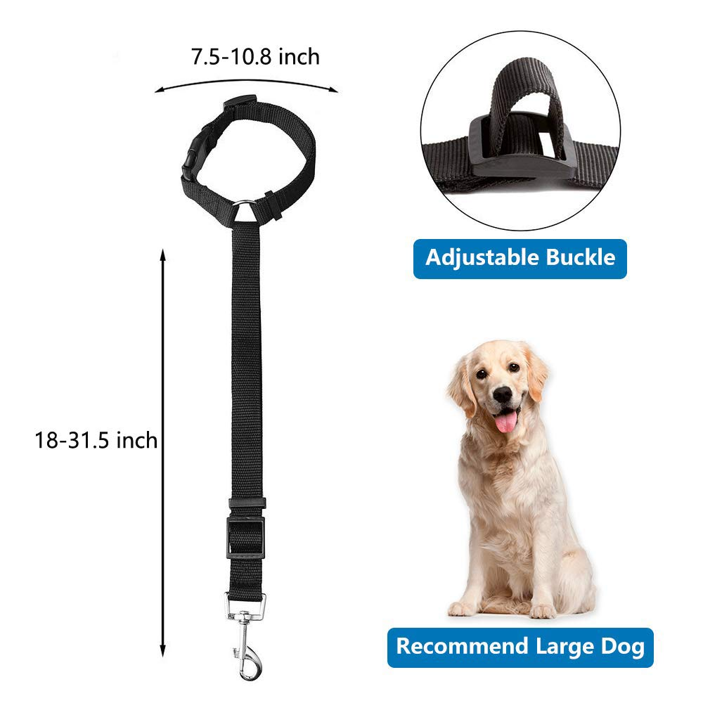 Cintur/ón de Seguridad para Perro Ajustable Uso Diario WeFine Correa de Seguridad para Perro para Viajes 2 Unidades
