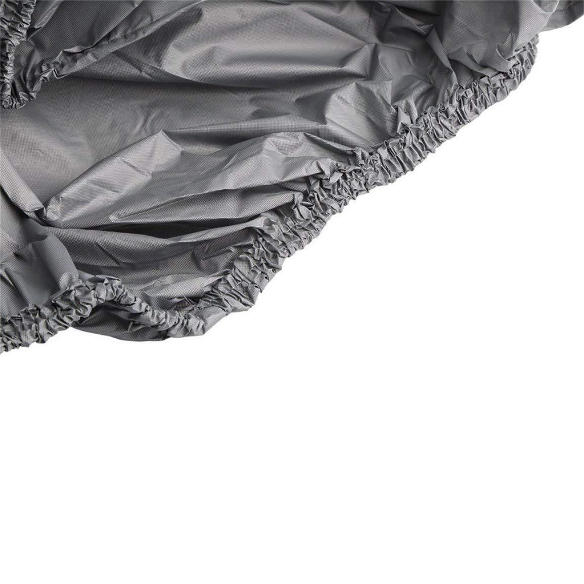 Farbe: grau L Garciadia wasserdichte staubdichte Au/ßenmembran Volle Autoabdeckung UV-best/ändiges Gewebe Atmungsaktiv Regen im Freien Schnee Eisbest/ändig