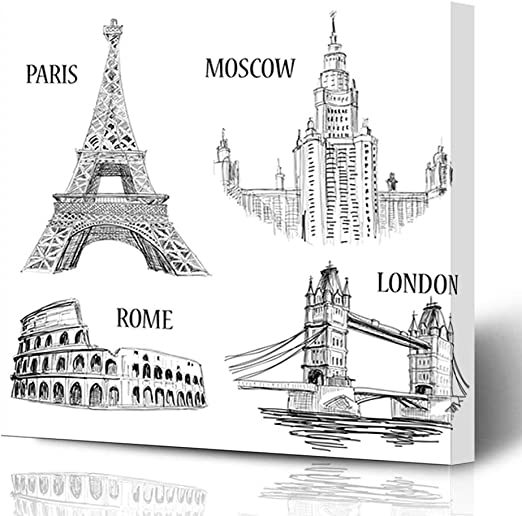 UK LONDON Landmark Canvas Framed Printed Wall Art 36 ~ More Size