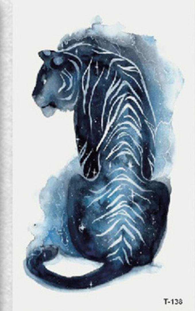 CYCTECH Tattoo sticker, Temporary Non-toxic Tattoo Stickers Body Art Waterproof Tiger (Colorful)