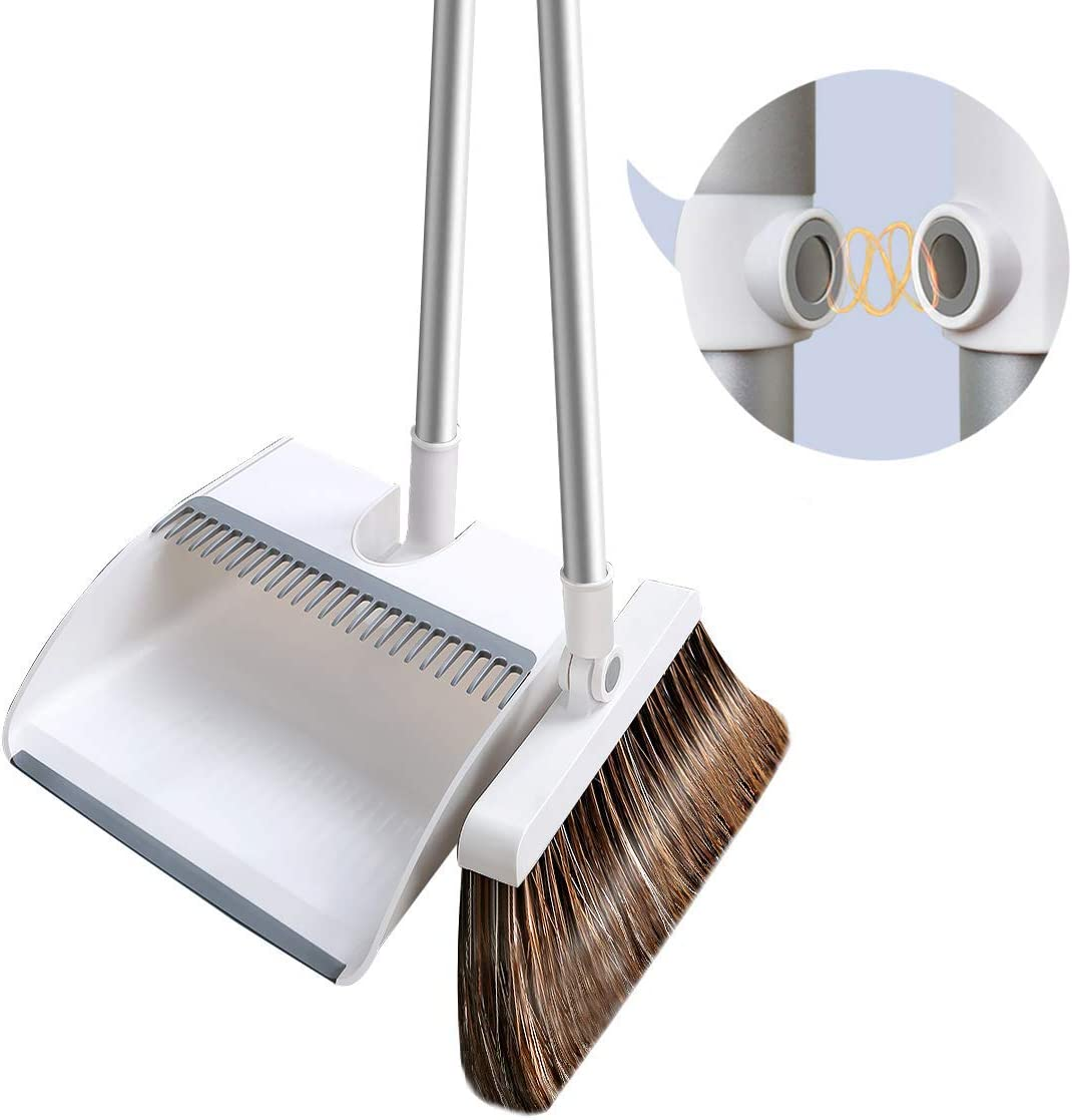 Upright Broom and dust pan