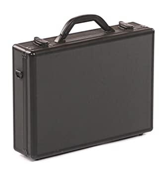 Genial Executive Aluminium Business Laptop Flight Case Briefcase Storage Box Bag  Black