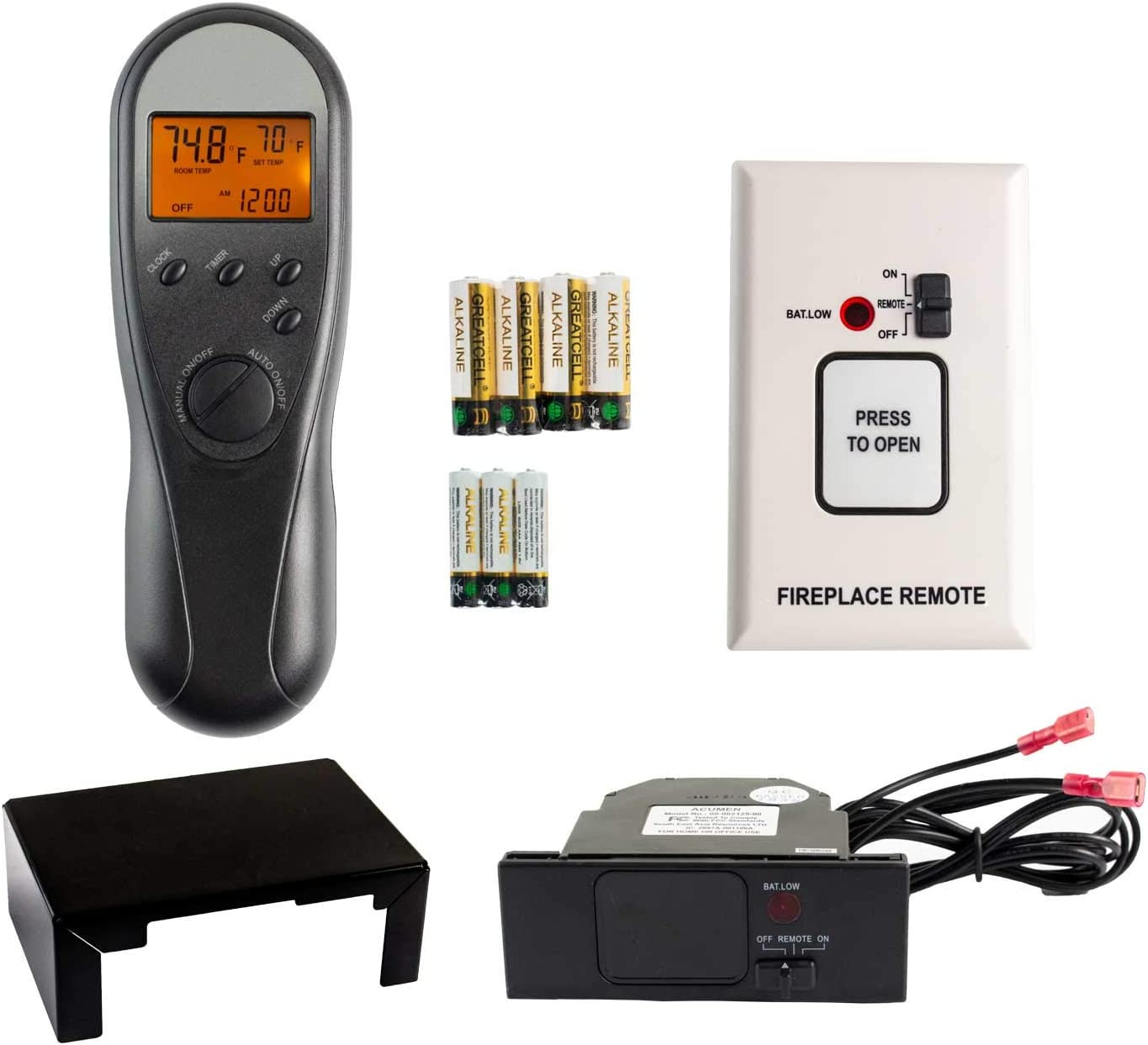 Hearth Products Controls Acumen Timer/Thermostat Fireplace Remote Control (RCK-K)