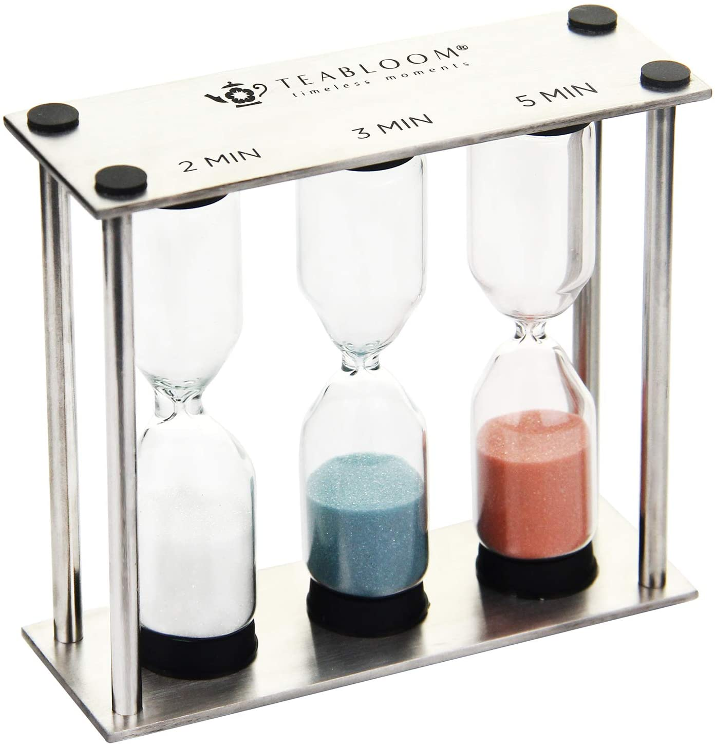 Teabloom Trio Tea Timer in Brushed Stainless Steel: Home & Kitchen