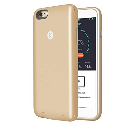first rate 4ca6f b04ed KUNER Battery Case for iPhone 6 Plus/6s Plus (2,400mAh) with Built ...