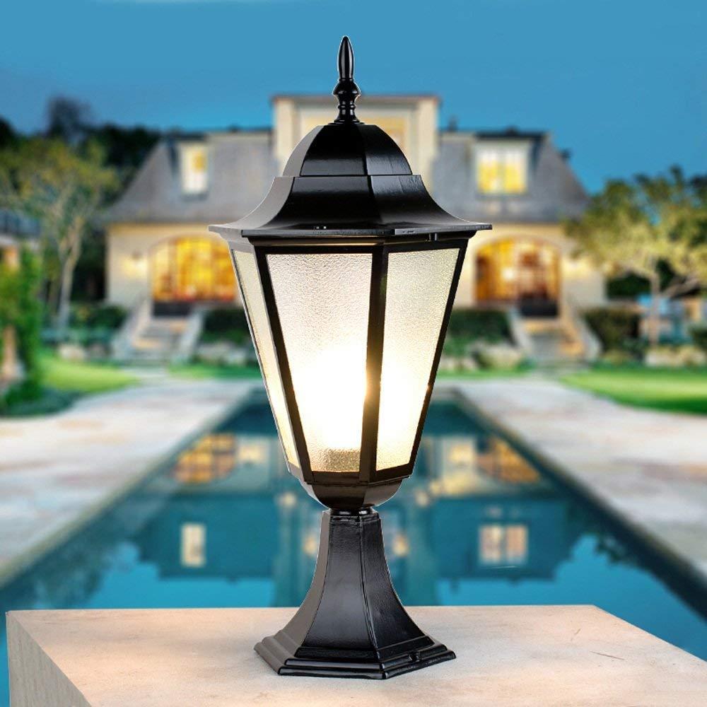 HDMY La colonna europea della parete ha condotto la lanterna impermeabile all'aperto della lanterna della luce del giardino della colonna principale impermeabile principale della colonna
