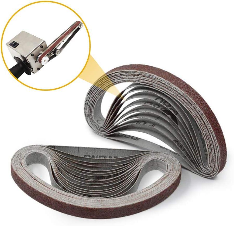 Schleifen Polierwerkzeuge f/ür Sander Power 10 PCS KKmoon 1000# Schleifb/änder,10x330mm Schleifband