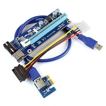 XT-XINTE PCIE 1X a 16X Tarjeta Grafica Extienda el Cable ...