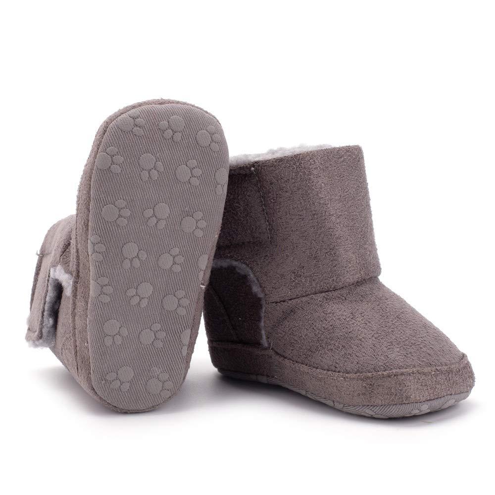 Baby Premium Anti-Slip Mid Calf Warm Winter Infant Prewalker Toddler Snow Boots