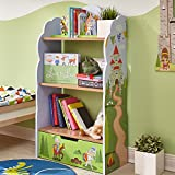 Fantasy Fields - Knights & Dragon Thematic Kids Wooden Bookcase with Storage | Imagination Inspiring Hand Crafted & Hand Painted Details | Non-Toxic, Lead Free Water-based Paint