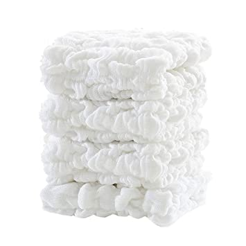Baby Boy Muslin Hooded Cotton Terry Towel /& Washcloth 4 Bamboo Washcloths NEW