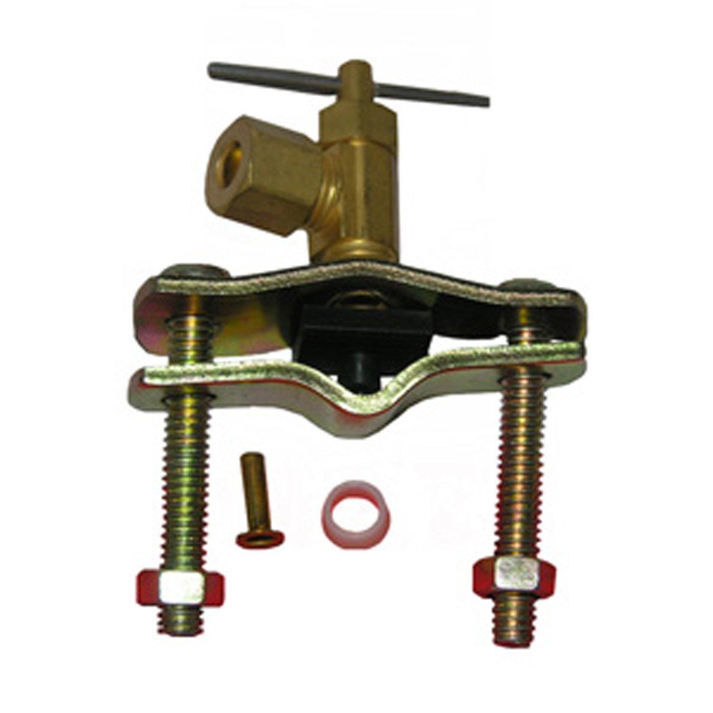 LASCO 17-0611 1//4-Inch Compression Outlet Brass Saddle Needle Valve