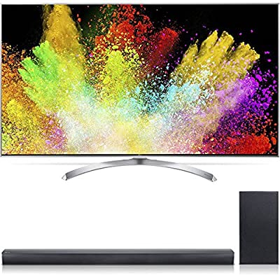 "LG 60SJ8000 SUPER UHD 60"" 4K HDR Smart IPS LED TV w/ Nano Cell Display (2017 Model) + LG SJ4Y Wireless 300 Watt Sound Bar w/ 2.1ch Hi-Resolution Audio"