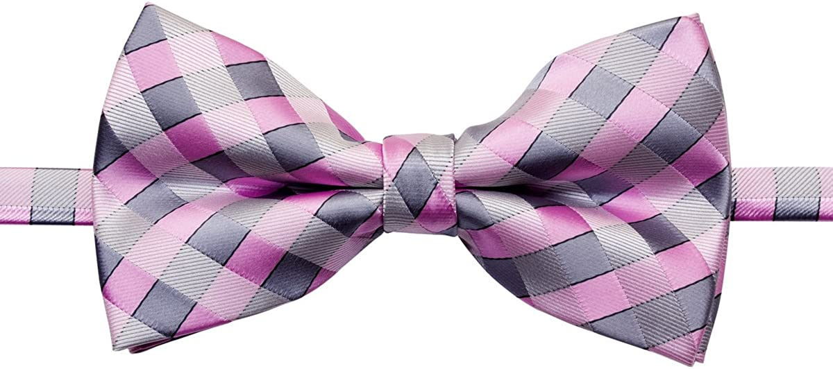 Retreez Classic Check Woven Pre-tied Bow Tie w//Pocket Square /& Cufflinks Gift Set 5