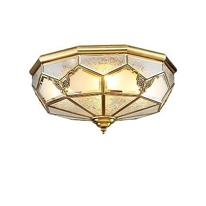 Lámpara de techo de cobre estilo europeo estilo minimalista ...