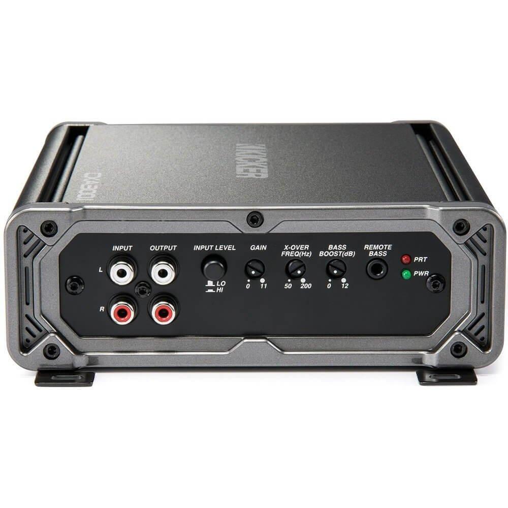 Kicker 43CXARC Remote Control For CX or PX SERIES Car Amplifiers Kicker 43CXA3001 300 Watt RMS Class D Car Amplifier Package