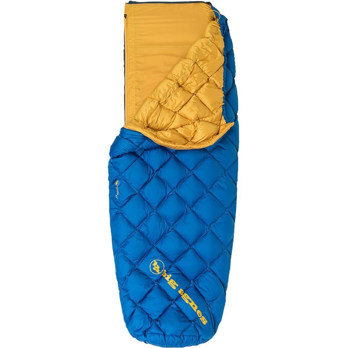 Big Agnes Yampa 45 Down Sleepingバッグ B07582LBKV Regular Length, Left Zipper|ブルー ブルー Regular Length, Left Zipper