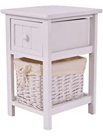 table for bedroom. Giantex Night Stand 2 Layer 1 Drawer Bedside End Table Organizer Bedroom  Wood W Basket Nightstands Amazon com