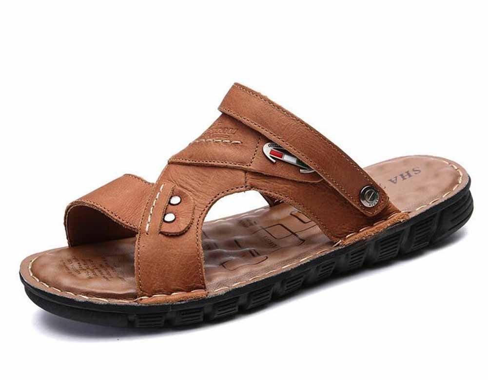 Männer Männer Männer Leder Strand Schuhe 2018 Sommer Neue Atmungsaktive Sandalen Leichte Outdoor-Schuhe Große Größe a0064b
