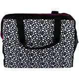 THERMOS Raya 9-Can Duffle Tote Cooler - Black & White Circles