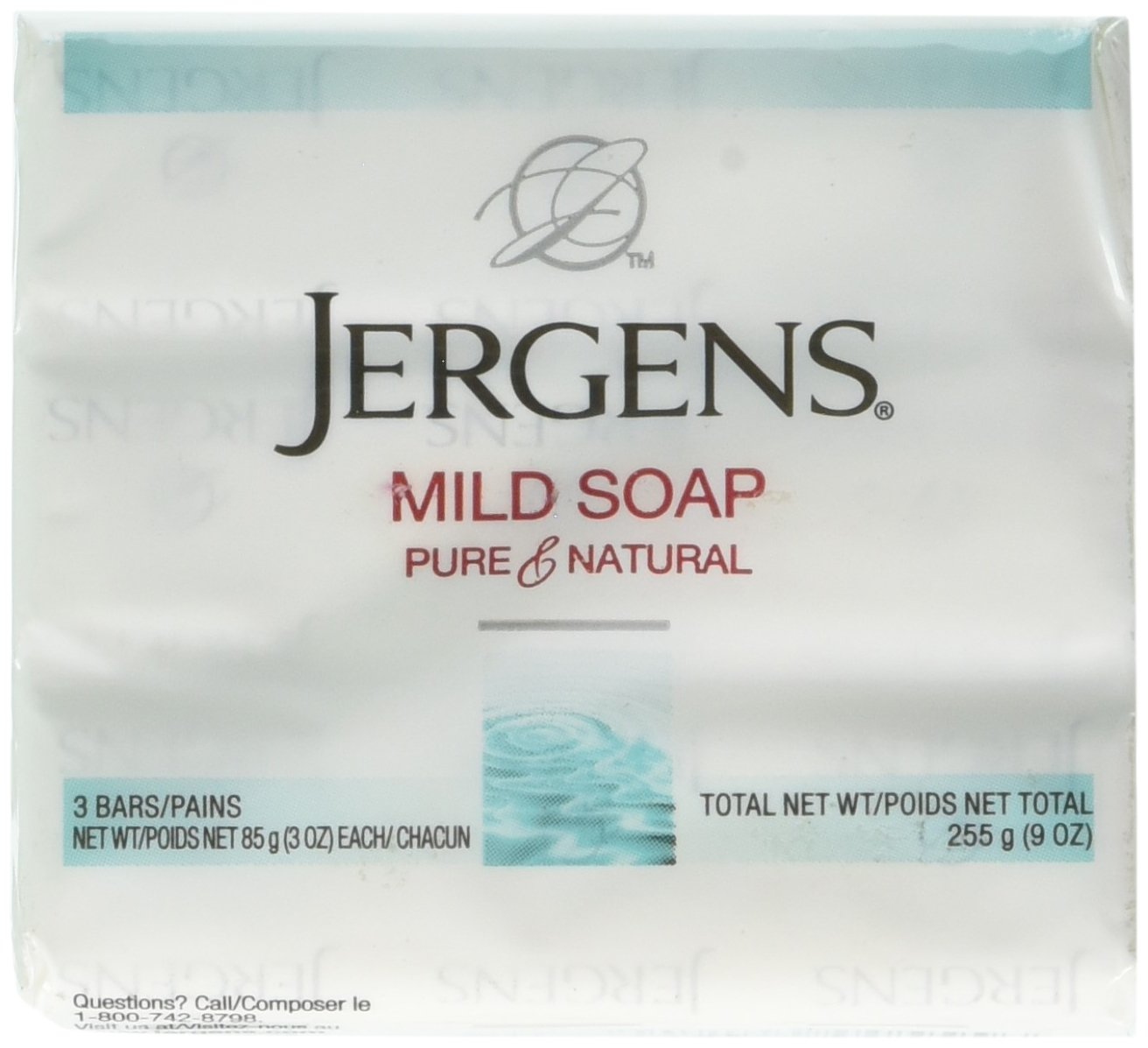 Jergens Mild Soap for Face and Body, 3 Ounce Bar, 3 Count (Pack of 4) KAO Brands