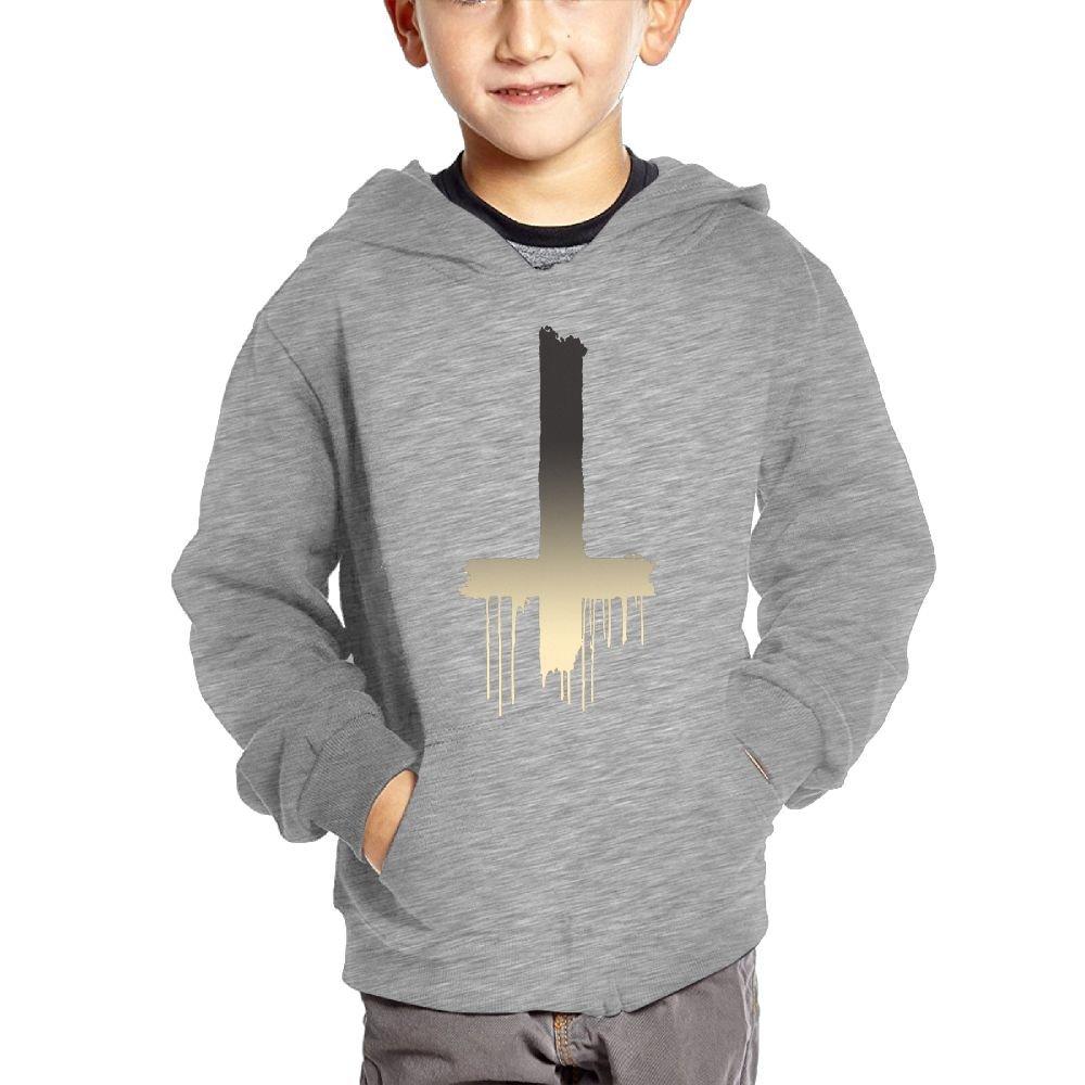 Small Hoodie Inverted Cross Boys Heavyweight Pocket Hoodie