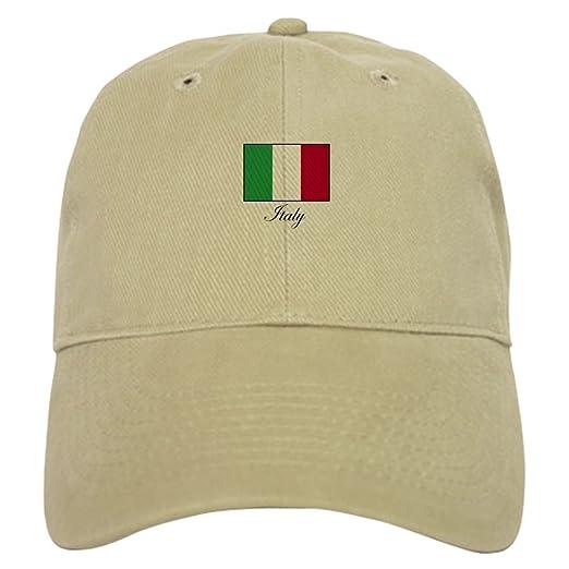 b985a1ce CafePress - Italy - Italian Flag Cap - Baseball Cap with Adjustable  Closure, Unique Printed