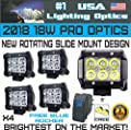 "#1 4x 4"" USA Lighting Optics TM 18W 6 CREE LED Brightest on the Market! SUV Off-road Boat Headlight Spot Driving Fog Light + Mounting Bracket"