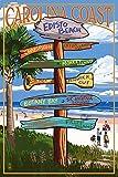 Edisto Beach, South Carolina - Sign Destinations (12x18 Collectible Art Print, Wall Decor Travel Poster)