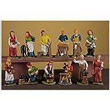 Pastore in resina cm. 10 - set 12 figure