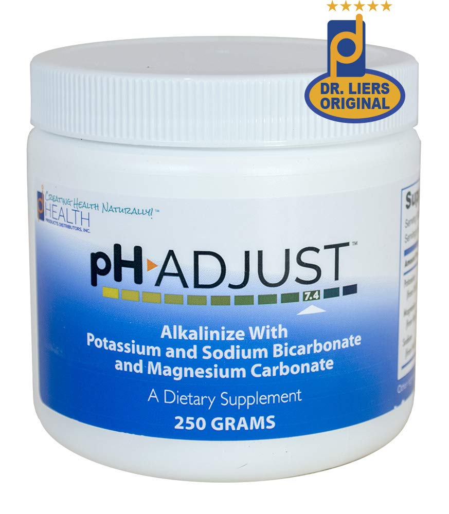 pH Adjust Alkalinizing Formula | Alkalinize with Potassium and Sodium Bicarbonate and Magnesium Carbonate | Rapidly Balances pH Levels | Tastes Good | Easy to Use Fluffy Powder | 250 GM