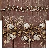 The Country House Collection 4.5ft Cotton 'N' Pods Garland