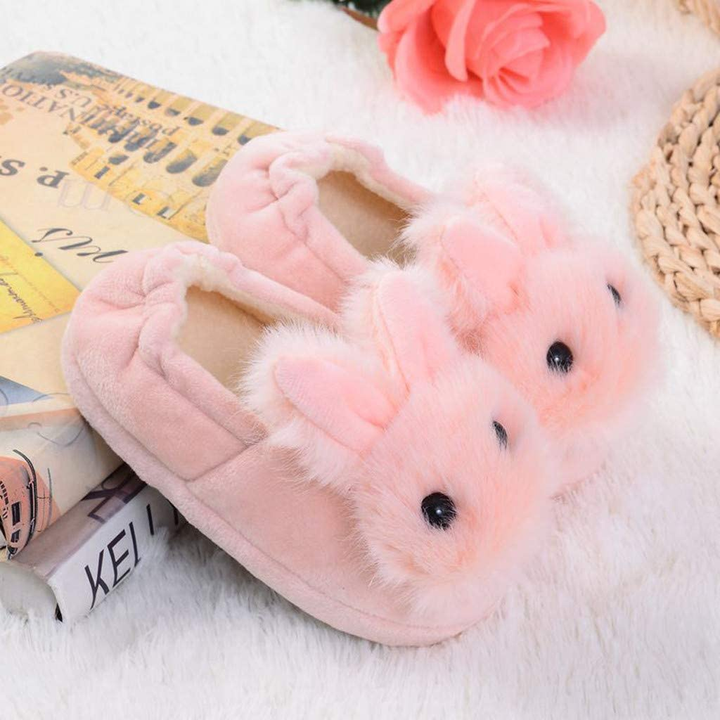 Winter Home Slippers for Kids,Jchen Child Winter Warm House Slippers Boys Girls Cartoon Bunny Soft-Soled Shoes for 2-9 Y