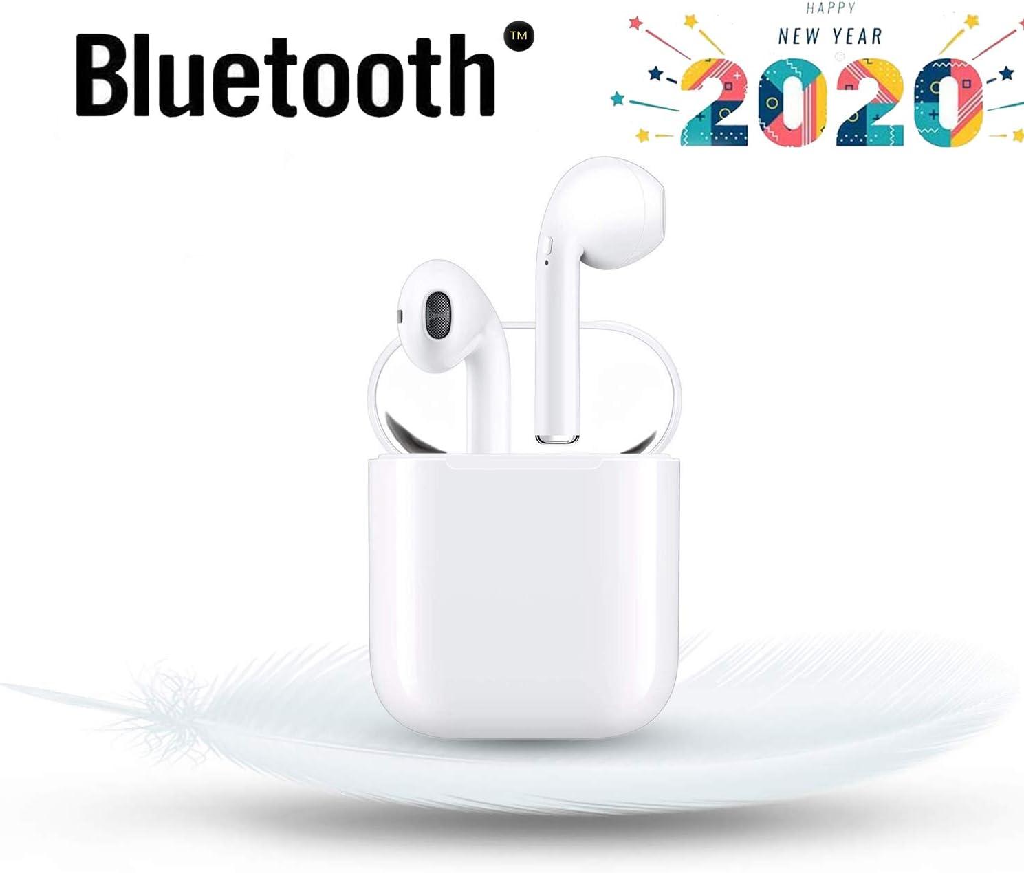 Auriculares internos Bluetooth 5.0, Auriculares inalámbricos con Control táctil, micrófono Incorporado y Caja de Carga, reducción de Ruido 3D HD, adecuados para Android/AirPods/Huawei/iPhone