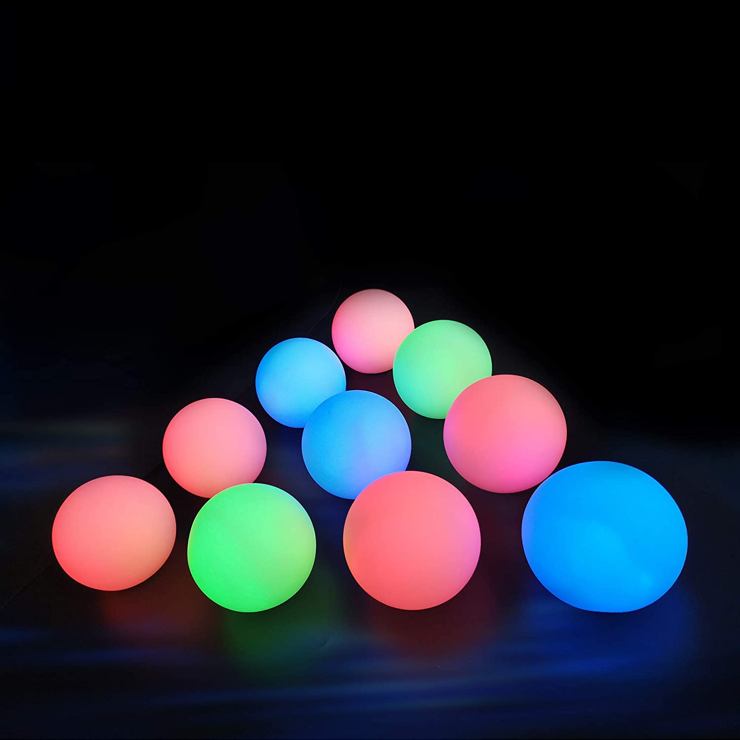 Chakev Floating Pool Lights 10 Pack, 16 Colors Remote Control Pond LED Ball Lights with Timer, 3 inch Waterproof Glow Orb Hot Tub Light Kids Night Light with 6PCS Extra Batteries for Pool Party Decor