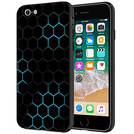 super popular 12746 0a08f MTT Carbon Fiber Texture Printed Mobile Back Case Cover for Apple iPhone 6S  Plus & 6 Plus