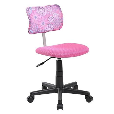 Incredible Amazon Com Eurostile Kids Pink Mid Back Home Task Desk Machost Co Dining Chair Design Ideas Machostcouk