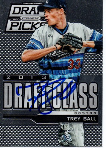 Trey Ball Boston Red Sox 2013 Panini Prizm Draft Class Signed Card