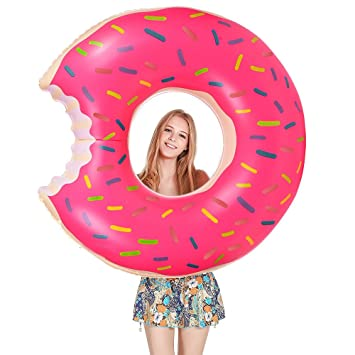 Flotador Donut, Migimi Anillo de Natación Flotador, Agua Pool Float Juguetes Inflables para Adultos y Niños, de Natación Playa o Piscina Baño Juguete: ...