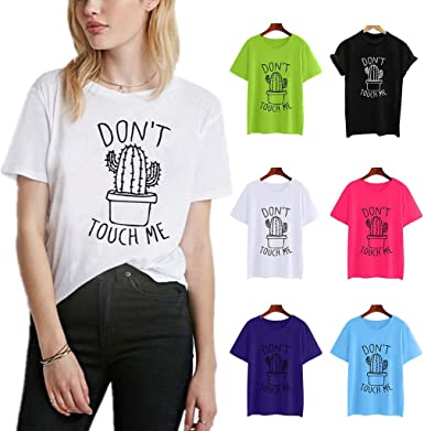 RISTHY Camiseta Mujer Verano de Algodón Tallas Grandes con ...