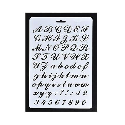 Pochoir   Lettres De Lu0027alphabet Et Chiffres   Pour Peinture, Bricolage