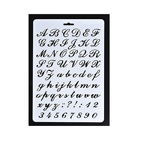 Plantilla Con Letras Del Alfabeto Y Numeros 3 Unidades Amazon Es