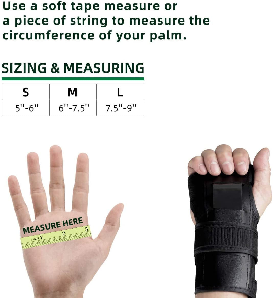 Longboarding Inline Skating Adjustable Wrist Palms Protective Gear for Skateboarding Roller Blading Snowboarding Wrist Guards with Palm Protection Pads for Adults and Kids