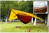 Hammock/Tent and ultra light sleep system only 1042 Grams/2.3 lb HMW78GT Orange /Red Integrated M-Net/Diamond Fly/Snake Skin/Carabineers w/ Spreader bar ropes/straps/stakes/sacks included