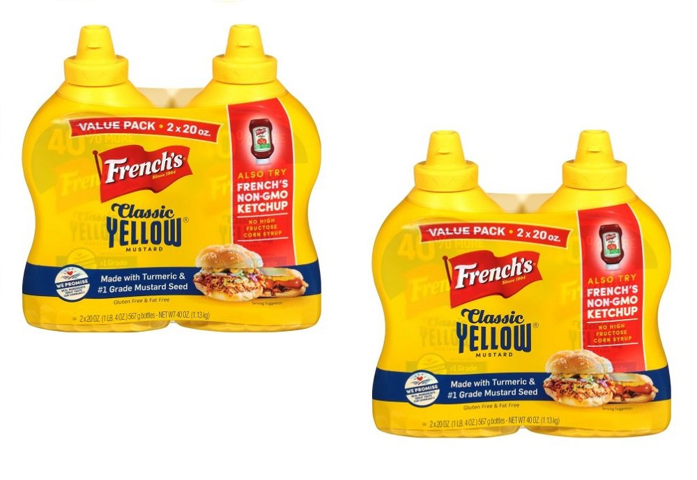French's 100% Natural Classic Yellow Mustard Two Pack, 40 OZ (Pack of 2)
