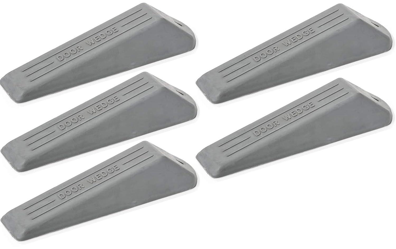 fiXte® 5 Pack Door Wedge, Heavy Duty Rubber Door Wedge, Non-Slip Door Jammer, Door Wedge Stopper Ideal Homes, Offices Work Shops (Grey, Pack of 5).