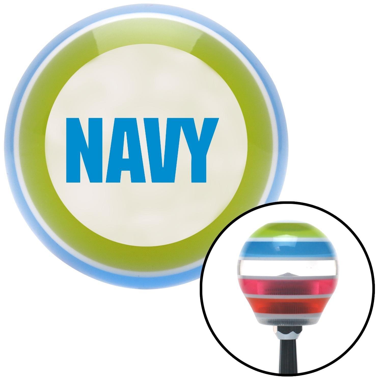 Blue Navy American Shifter 134961 Stripe Shift Knob with M16 x 1.5 Insert