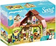 PLAYMOBIL 70118 Spirit Riding Free Barn with Lucky, PRU & Abigail