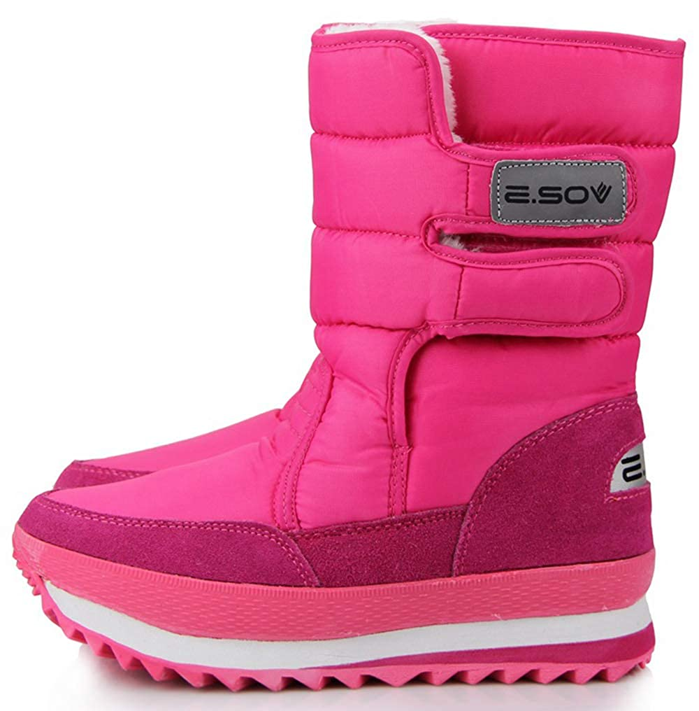 pink XIANV Women Snow Boots Anti-Slip Soles Waterproof Non-Slip Warm Padded shoes
