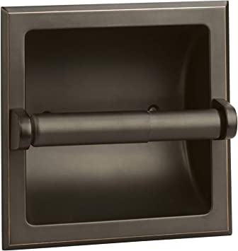 Design House 539254 Millbridge Bath Accessories Recessed Toilet Paper Holder Oil Rubbed Bronze Rubbed Bronze Toilet Paper Holder Insert